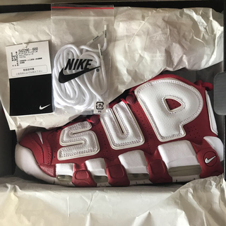 ナイキ(NIKE)のSupreme air more uptempo 27.0cm us9(スニーカー)