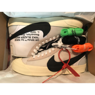 "THE10 NIKE BLAZER MID ""OFF-WHITE"" US9.5(スニーカー)"