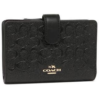 コーチ(COACH)の新作/COACH 二つ折り財布 F25937 ブラック/(財布)