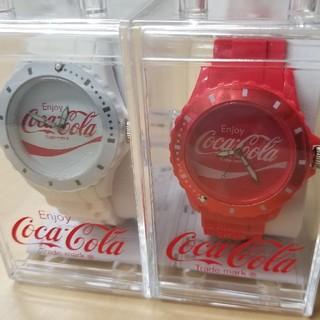 コカコーラ(コカ・コーラ)のコカ・コーラ シリコーンウォッチ 腕時計 2個セット(腕時計(アナログ))