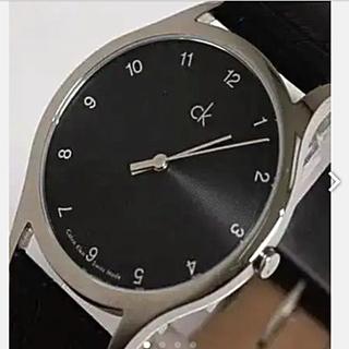 カルバンクライン(Calvin Klein)の★Calyin Klein/スイス製ブラックダイヤルQZクロコ調ブラックレザー(腕時計(アナログ))