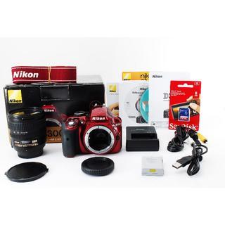 ニコン(Nikon)の高画質★Nikon D3300 レンズセット★新品SDカード、元箱付(デジタル一眼)