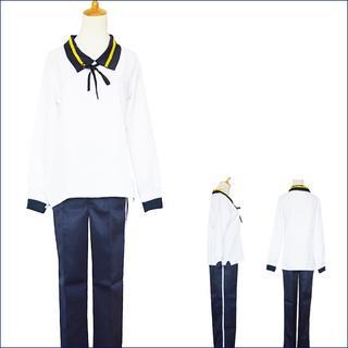 コスプレ 衣装 内番 粟田口 刀剣 コスチューム 3749-3750(衣装一式)