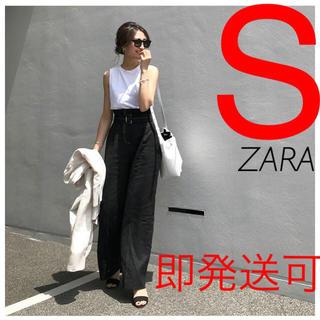 ザラ(ZARA)のZARA ベルト付きリネンパンツ リネン パンツ(カジュアルパンツ)