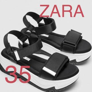 ザラ(ZARA)の新品!ZARA!スポーツサンダル!完売品!35!ウェッジソールサンダル(サンダル)
