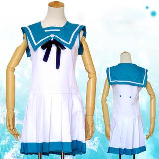 コスプレ 制服 ワンピース 凪のあすから風 女子制服 3666-3667(衣装一式)