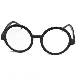 クリックポスト送料無料コスプレ 小物 伊達めがね メガネ 黒縁 眼鏡 8043(小道具)