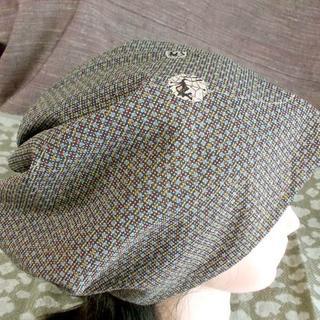 特大 63 素敵な格子幾何学意匠 キャップ 帽子 室内帽子(その他)