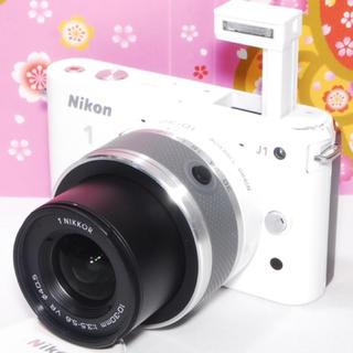ニコン(Nikon)の❤️キュートなミラーレス❤️Nikon j1 ホワイト レンズキット❤️ (ミラーレス一眼)