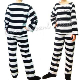 コスプレ  囚人服 衣装 ラッキードッグ1風 3219(衣装一式)