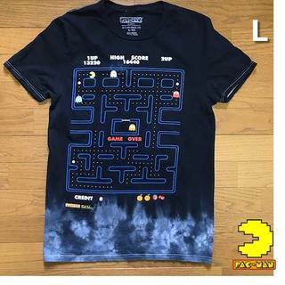 バンダイ(BANDAI)のバンダイ PAC-MAN パックマン Tシャツ 【L】黒 新品 180720(Tシャツ/カットソー(半袖/袖なし))
