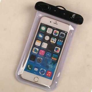 防水スマートフォンケース ストラップ付 タッチ・電話・カメラ使用可能(モバイルケース/カバー)
