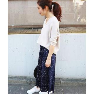 イエナ(IENA)の《美品》大人気♡ライトデジン  ドットスカート  17SS(ロングスカート)