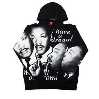 シュプリーム(Supreme)のSupreme MLK Hooded Sweatshirt Black(パーカー)