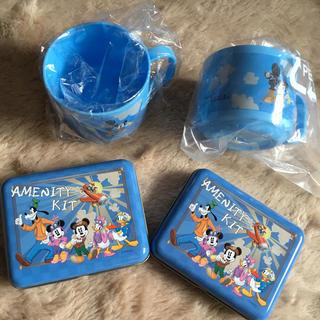 ディズニー(Disney)の【新品未使用】アンバサダーホテル アメニティ  コップ 缶 セット売り(キャラクターグッズ)