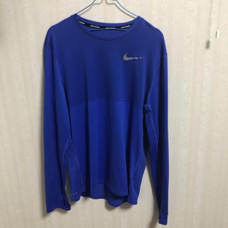 ナイキ(NIKE)のNIKE ランニング シャツ Lサイズ ブルー(ウェア)