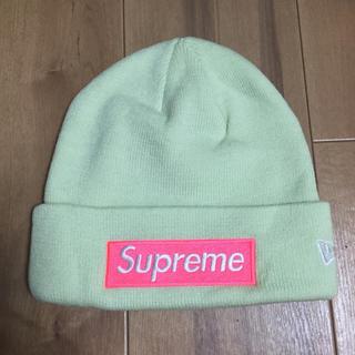 シュプリーム(Supreme)のSupreme New Era Box Logo Beanie ビーニーvvv(ニット帽/ビーニー)
