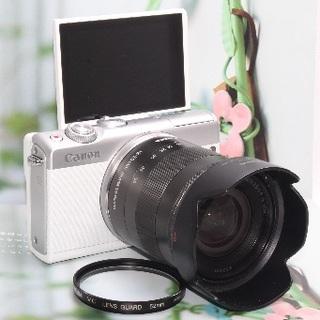 キヤノン(Canon)の❤️自撮り&WiFiを思いのままに❤️Canon EOS M100 ❤️(ミラーレス一眼)