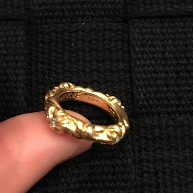 Chrome Hearts(クロムハーツ)のクロムハーツ 22k sbtバンドリング 4pダイヤモンド 45 メンズのアクセサリー(リング(指輪))の商品写真