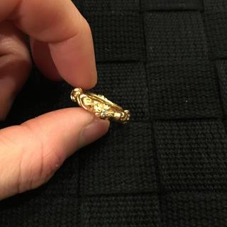 クロムハーツ(Chrome Hearts)のクロムハーツ 22k sbtバンドリング 4pダイヤモンド 45(リング(指輪))