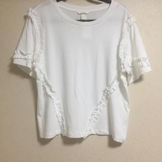エイチアンドエム(H&M)のH&M フリル Tシャツ(Tシャツ(半袖/袖なし))