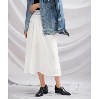 gleam  スモッキングロングスカート(ロングスカート)