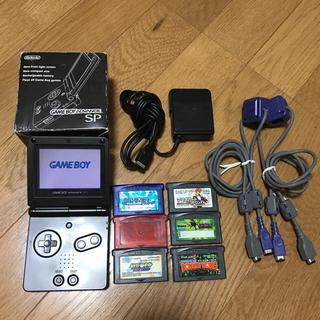 ゲームボーイアドバンス(ゲームボーイアドバンス)の【Koji♪様専用】任天堂ゲームボーイアドバンスSP+カセット(携帯用ゲーム機本体)