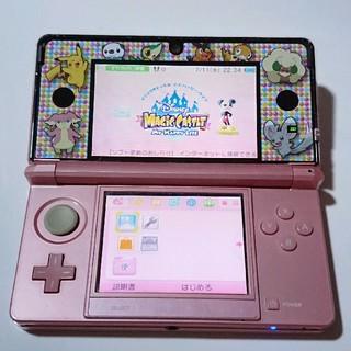 ニンテンドー3DS(ニンテンドー3DS)の3ds ミスティピンク ディズニーソフト(携帯用ゲーム本体)