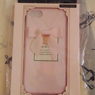 メゾンドフルール(Maison de FLEUR)の❤️定価以下❤️ 【メゾンドフルール】リボンラベルiPhone7ケース(ピンク)(iPhoneケース)