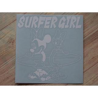 ミニーマウス ディジーダック SURFER GIRL カッティングシート(車外アクセサリ)