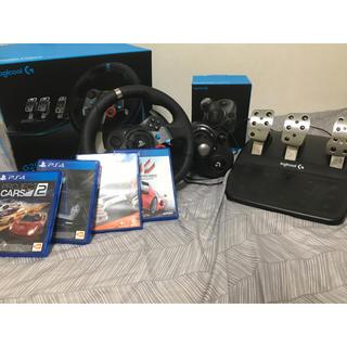プレイステーション4(PlayStation4)のロジクールG29ドライビングフォース+シフター+ゲーム4つセット(家庭用ゲーム本体)