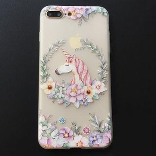 さらにお値下げ!花柄iPhone ケース ユニコーン柄iPhone7/8カバー(iPhoneケース)