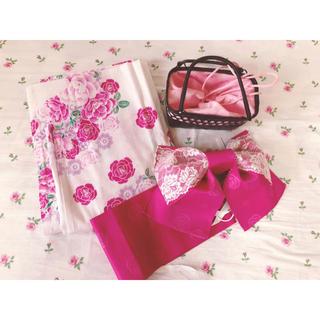 シマムラ(しまむら)のピンク 浴衣 3点セット(浴衣)