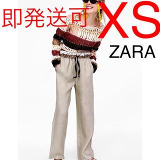 ザラ(ZARA)のZARA リネンパンツ リネン パンツ リボン(カジュアルパンツ)