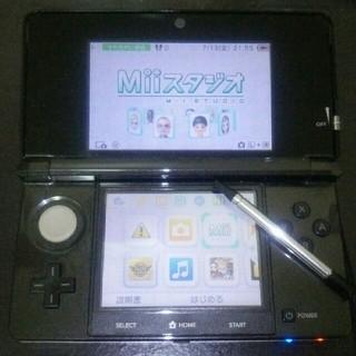 ニンテンドー3DS(ニンテンドー3DS)のニンテンドー3DS 本体のみ 黒(携帯用ゲーム本体)