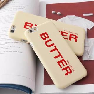 【再入荷】BUTTER LOGO iphone7&8ケース(iPhoneケース)