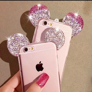 iPhone8 7 6 5 ケース キラキラ マウスケース(iPhoneケース)