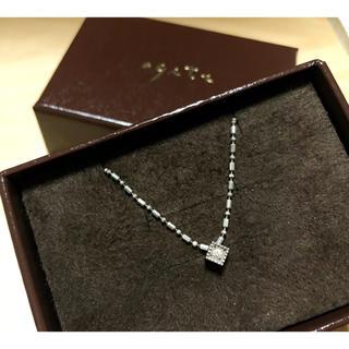 アガット(agete)のagete silver925 ダイヤモンド キューブ ネックレス シルバー(ネックレス)
