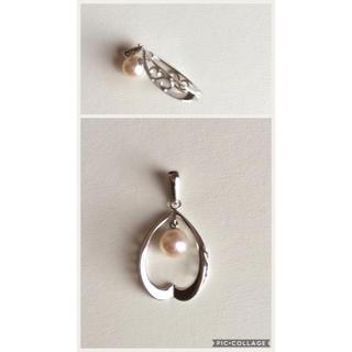 真珠 ペンダントトップ シルバー(ネックレス)