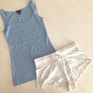 エイチアンドエム(H&M)のノースリーブ ショートパンツ xs(カットソー(半袖/袖なし))