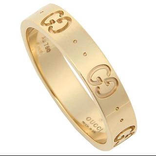 グッチ(Gucci)の正規品 k18リング イエローゴールド 16号(リング(指輪))