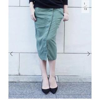 ドゥーズィエムクラス(DEUXIEME CLASSE)のテンセルVintageミリタリースカート(ひざ丈スカート)