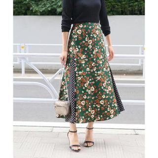 イエナ(IENA)の新品タグ付 IENA 2018AW レトロプリント ランダムパネルスカート 34(ロングスカート)