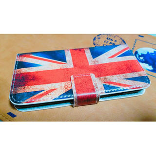 イギリス♪アンティーク風♪ダメージ♪ユニオンジャック♪手帳型♪おしゃれ♪送料無料(iPhoneケース)