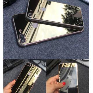 iPhone7鏡面ガラスシート ゴールド(iPhoneケース)