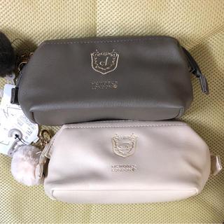 シマムラ(しまむら)の2個セット 新品 ファー刺繍ポーチ コシノヒロコ ポーチ しまむら(ポーチ)