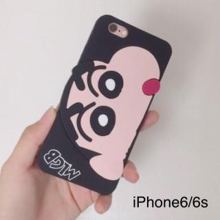iPhone6/6s専用 クレヨンしんちゃん 黒(iPhoneケース)