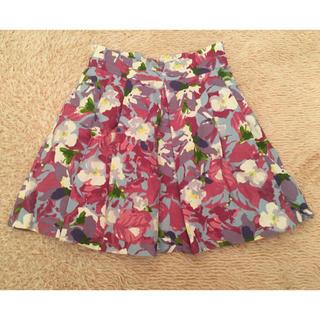 デイシー(deicy)のdeicy オリジナル花柄SK ピンク系 フレアスカート M(ミニスカート)