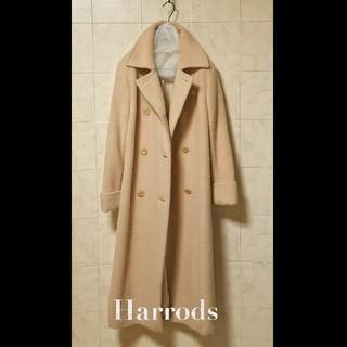 ハロッズ(Harrods)の超高級 ハロッズ 美品 おしゃれアルパカチェスターコート HARRODS(チェスターコート)