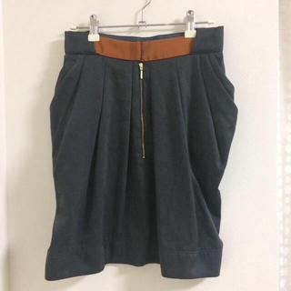 イチパーセント(1%)の1.percent SHUHEI OGAWA (シュウヘイオガワ)サテンスカート(ひざ丈スカート)